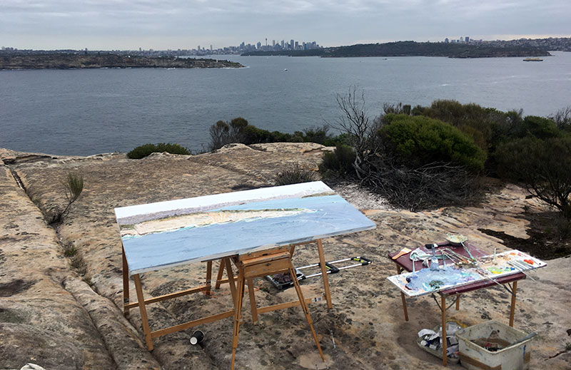 Painting from North Head