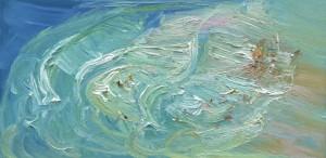 Freshwater-Rip-Oil-on-canvas-76cm-x-150cn-David-K-Wiggs