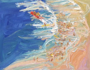 Freshwater rescue-Oil on canvas-61cm x 76cm-David K Wiggs 2011