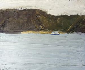 Currawong-Plein air-Oil on canvas-25cm x 30cm-David K Wiggs