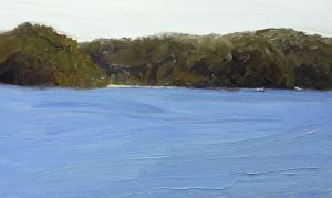 Leaving Mackeral beach-Pittwater-Plein air-Oil on canvas-90cm x 150cm-David K Wiggs-2016