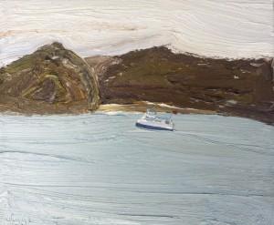 Mackeral Beach-Plein air-Oil on canvas-25cm x 30cm-David K Wiggs