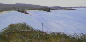 Calm morning North head-Oil on canvas-92cm by 180cm