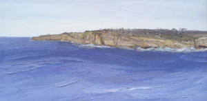 Down the coast from North head-Plein air-Oil on canvas-90cm x 180cm-David K Wiggs-2017