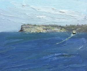 Leaving Manly-Plein air-Oil on canvas-50cm x 60cm-David K Wiggs