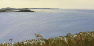 Long reef and beyond-Oil on canvas-76cm x 150cm-David K Wiggs