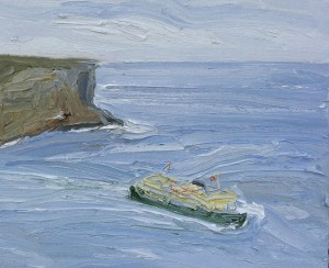 Manly-ferry-North-head-Oil-on-canvas-50cm-x-60cm-David-K-Wiggs