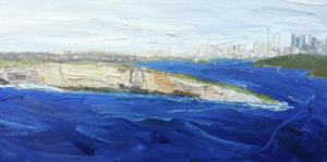South Headland from North head-Plein air-Oil on canvas-90cm x 180cm-David K Wiggs