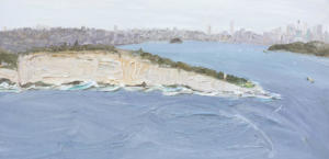 Sydney-Passing-Ferries-Plein-air-Oil-on-canvas-90cm-x-180cm-David-K-Wiggs-2018