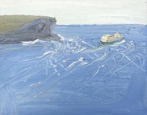 Sydney-to-Hobart-1--2013-Oil-on-canvas-20cm-x-25cm-David-K-Wiggs