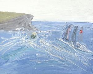 Sydney-to-Hobart-2-2013-Oil-on-canvas-20cm-x-25cm-David-K-Wiggs