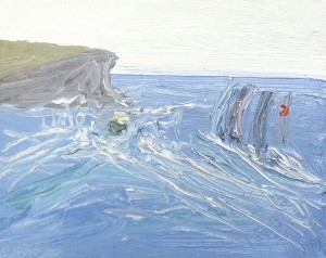 Sydney-to-Hobart-2-2013-Oil-on-canvas-20cm-x-25cm-David-K-Wiggs