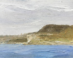 The Kayakers-Dobroyd headland-Plein air-Oil on canvas-61cm x 76cm-David K Wiggs-2017