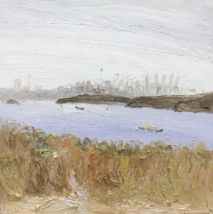 The heath and the city-Plein air-Oil on canvas-90cm x 90cm-David K Wiggs-2017