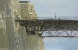Leaving-the-seaport-of-desire-The-Bridge-Oil-on-canvas-100cm-x-150cm-David-K-Wiggs