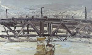 The Bridge in the wind-Plein air-Oil on oil paper-37cm x 61cm-David K Wiggs-2016