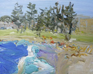 Dee Why-Plein air-Oil on oil paper-20cm x 25cm-David K Wiggs (1)
