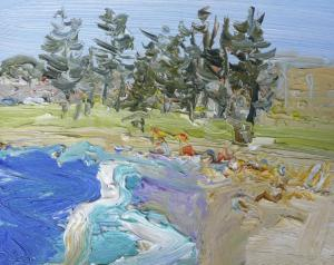 Dee Why-Plein air-Oil on oil paper-20cm x 25cm-David K Wiggs
