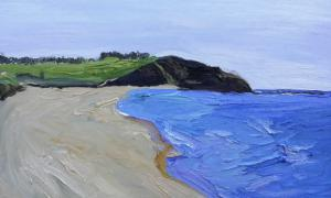 Long reef from Dee Why-Plein air-Oil on canvas-76cm x 100cm-David K Wiggs 2013