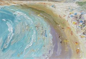 Freshwater-beach-Plein-air-David-K-Wiggs-2004