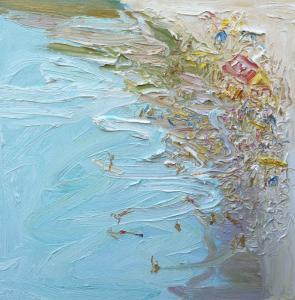 Hot-Sunday-Oil-on-canvas-60cm-x-60cm-David-K-Wiggs 1
