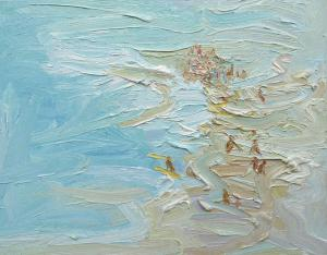 Surf-Sunday Plein-air-Oil-on-canvas-61cm-x-76cm-David-K-Wiggs 2015