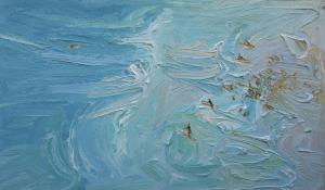 Anzac day-Freshwater-Plein air-Oil on canvas-90cm x 150cm-David K Wiggs