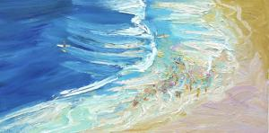Freshwater Rip and deep water-Plein air-Oil on canvas-50cm x 100cm-David K Wiggs 2012