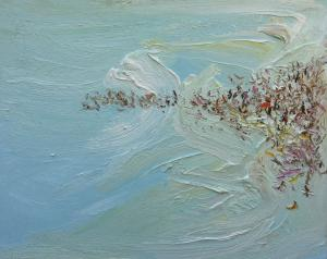 Later crowd-Plein air-Oil on canvas-61cm x 76cm-David K Wiggs