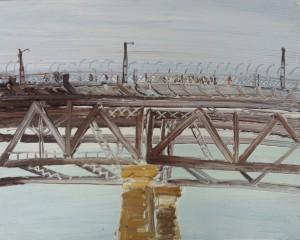 Above Milsons point-The Bridge-Plein air-Oil on oil paper-75cm x 85cm framed-David K Wiggs-2016
