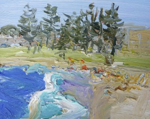Dee Why-Plein air-Oil on oil paper-20cm x 25cm-David K Wiggs