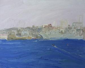 Garden island-Plein air-Oil on oil paper-75cm x 85cm framed-David K Wiggs-2016