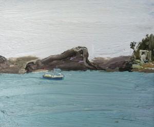 Palm Beach Ferry-Plein air-Oil on canvas-25cm x 30cm-David K Wiggs