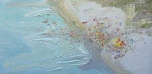 Pink Nipper morning-Plein air-Oil on canvas-60cm x 120cm-David K Wiggs