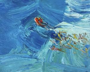 Rubber Ducky-Plein air-Oil on oil paper-20cm x 25cm-David K Wiggs