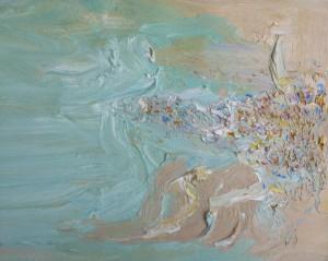Soft crowd-Freshwater-Plein air-Oil on oil paper-70cm x 85cm Framed-David K Wiggs