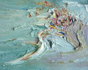 Tight crowd-Plein air-Oil on oil paper-45cm x 50cm framed-David K Wiggs-2017