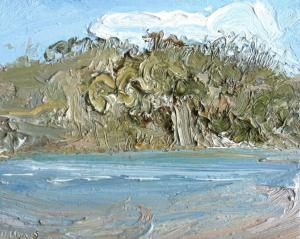 Hawkesbury-Plein air-Oil on oil paper-45cm x 50cm framed-David K Wiggs-2016