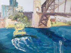 To The Quay-Plein air-Oil on canvas-76cm x 100cm-David K Wiggs 2017