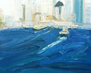 To and from The Quay-Plein air-Oil on canvas-61cm x76cm-David K Wiggs 2016