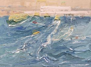 Wake and wash-The Quay-Plein air-Oil on canvas-92cm x 122cm-David K Wiggs 2018