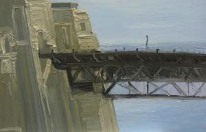 Leaving the seaport of desire-The Bridge-Oil on canvas-100cm x 150cm-David K Wiggs