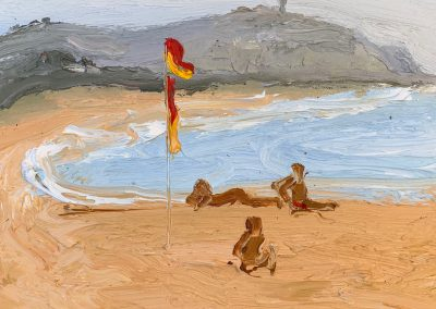 Bushfire Palmy 1-Endless Summer-Plein air -Oil on oil paper-50cm x 55cm framed-David K Wiggs 2019