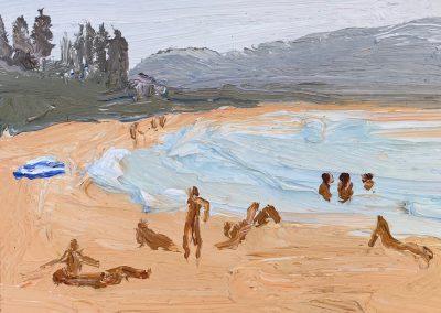 Bushfire Palmy 2-Endless Summer-Plein air-Oil on oil paper-50cm x 55cm framed-David K Wiggs 2019