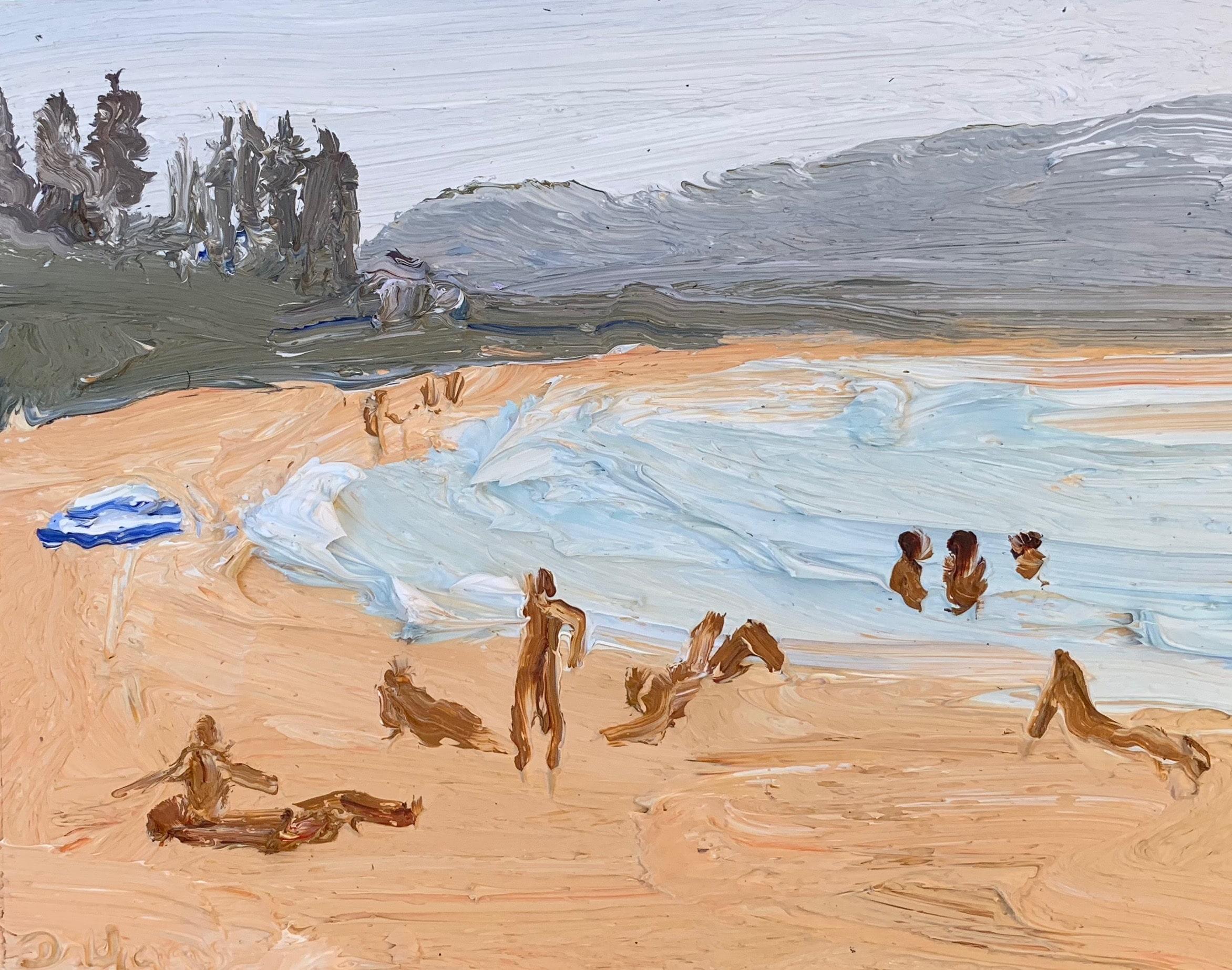 Bushfire Palmy 1-Endless Summer-Plein air-Oil on oil paper-50cm x 55cm framed-David K Wiggs 2019