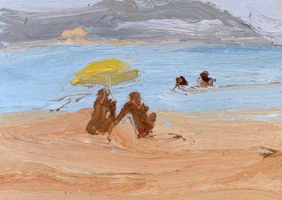 Bushfire Palmy 3-Endless Summer-Plein air-Oil on oil paper-50cm x 55cm framed-David K Wiggs 2019