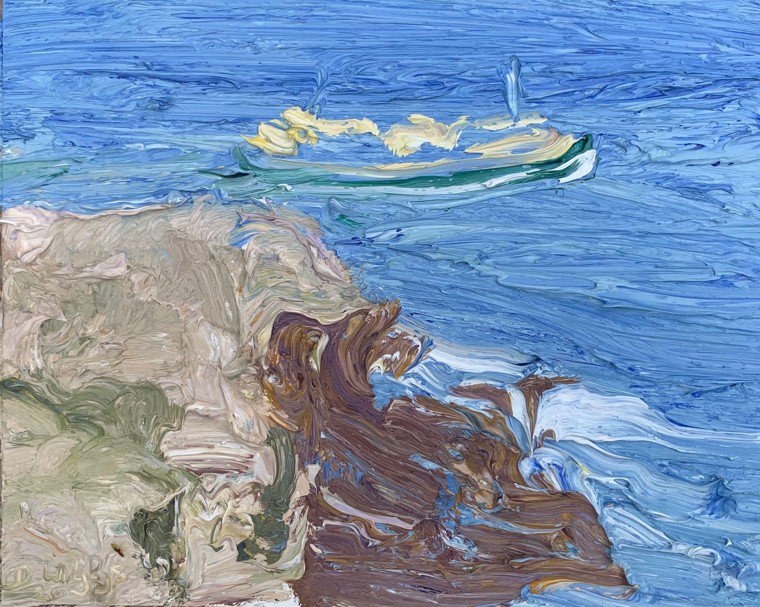 Past Dobroyd-Plein air-Oil on oil paper-50cm x 55cm framed-David K Wiggs 2020